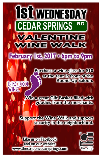 Wine Walk - February 2017 @ Round Up Saloon | Dallas | Texas | United States
