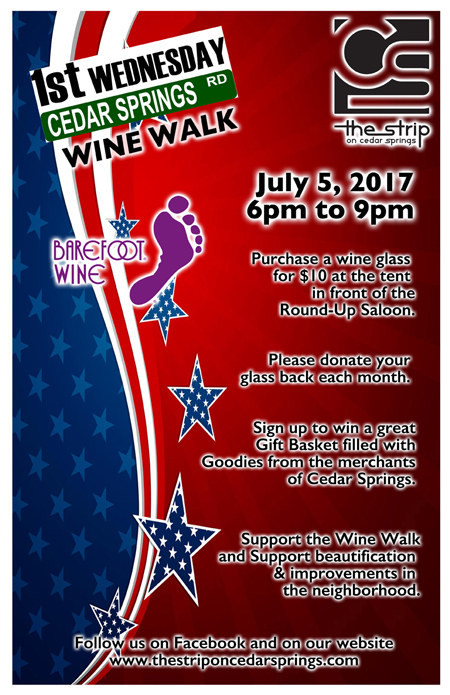 Wine Walk - July 2017 @ Round Up Saloon | Dallas | Texas | United States