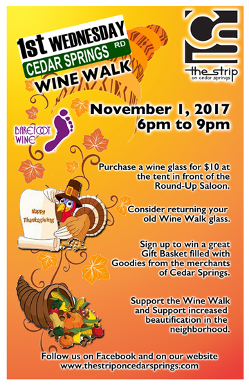 Wine Walk - November 2017 @ Round Up Saloon | Dallas | Texas | United States