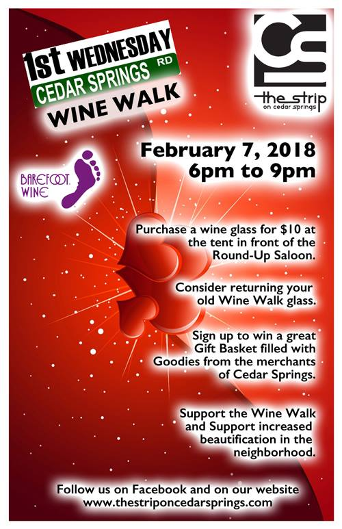 Cedar Springs Wine Walk - Feb. 7, 2018