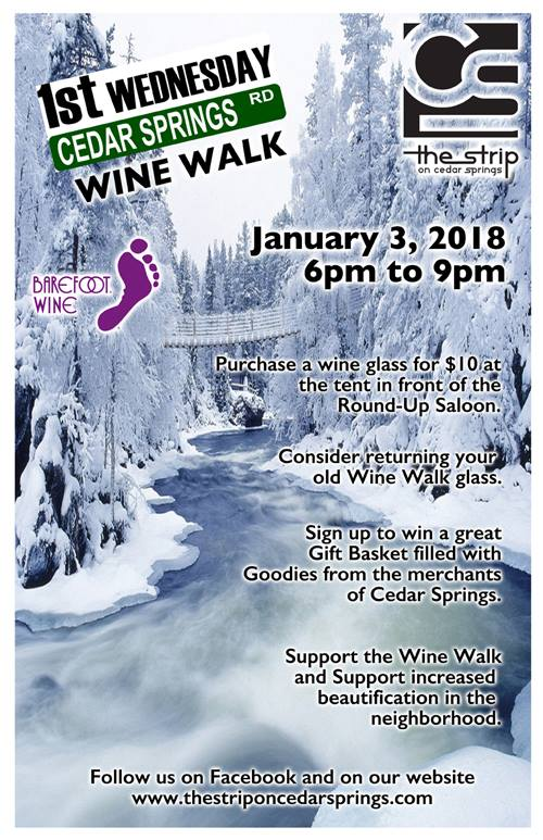 Wine Walk - January 2018 @ Round Up Saloon | Dallas | Texas | United States
