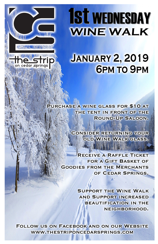 Wine Walk - January 2019 @ Round Up Saloon | Dallas | Texas | United States